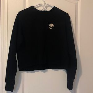 Brandy Melville cropped crew neck sweater